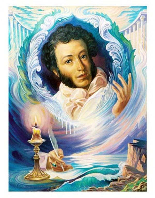 Анимационная картинка пушкин